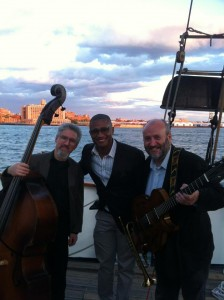 On board the Clipper City with Bruce harris (tot) & Andy Eulau (bass)